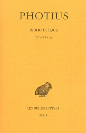 BIBLIOTHEQUE. TOME I : CODICES  1-83