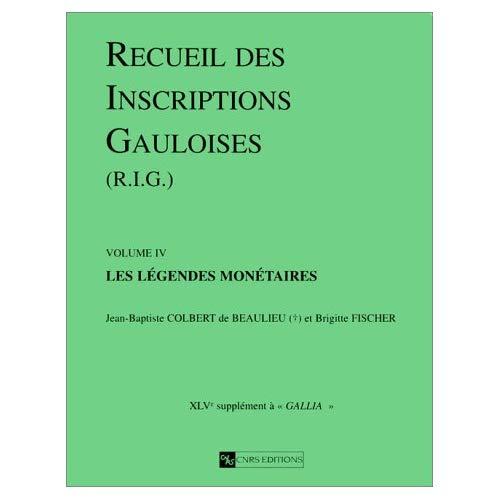 RECUEIL DES INSCRIPTIONS GAULOISES 4