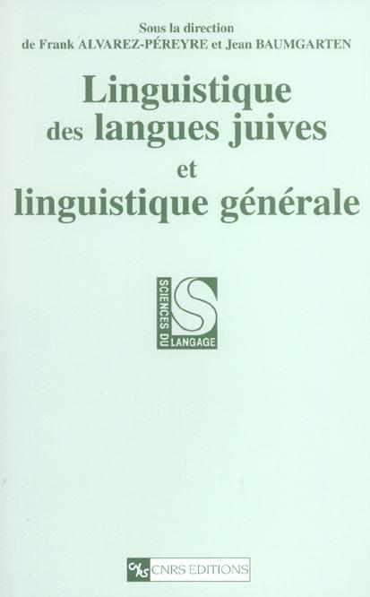 LINGUISTIQUE DES LANGUES JUIVES