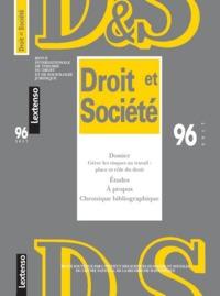 REVUE DROIT ET SOCIETE N 96 - 2017