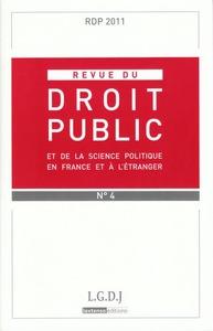 REVUE DU DROIT PUBLIC N 4 2011