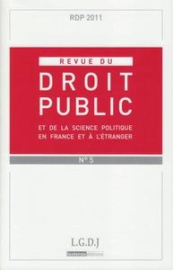REVUE DU DROIT PUBLIC N 5 2011