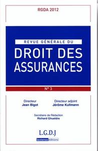 REVUE GENERALE DE DROIT DES ASSURANCES N  3 - 2012