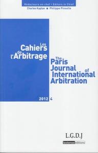 LES CAHIERS DE L ARBITRAGE N 4 - 2012