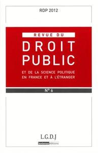 REVUE DU DROIT PUBLICN N 6 2012