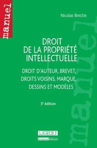 DROIT DE LA PROPRIETE INTELLECTUELLE - 3EME EDITION