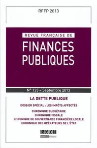 RFFP - REVUE FRANCAISE DE FINANCES PUBLIQUES N 123-2013