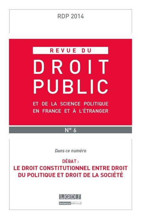 REVUE DU DROIT PUBLIC N 6 2014