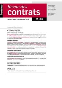 RDC - REVUE DES CONTRATS N 4-2016