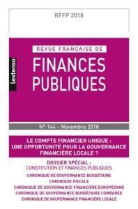 REVUE FRANCAISE DE FINANCES PUBLIQUES N 144-NOVEMBRE 2018