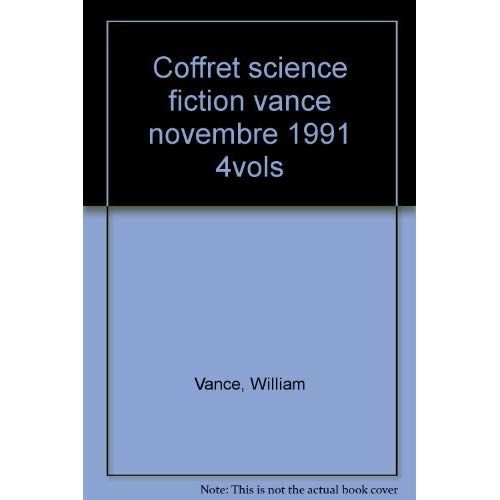 COFFRET SCIENCE FICTION VANCE NOVEMBRE 1991 4VOLS - - SERIE DU CYCLE DE TSCHAI