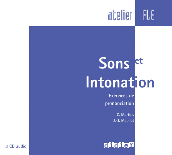 SONS ET INTONATIONS -  CD AUDIO