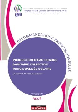 PRODUCTION D'EAU CHAUDE SANITAIRE COLLECTIVE INDIVIDUALISEE SOLAIRE (CESCI) - NEUF - CONCEPTION ET D