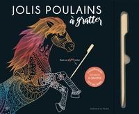 JOLIS POULAINS A GRATTER - 6 ILLUSTRATIONS TENDRES A GRATTER ET A ENCADRER