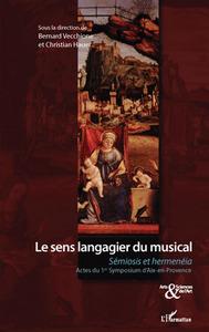 Le sens langagier du musical
