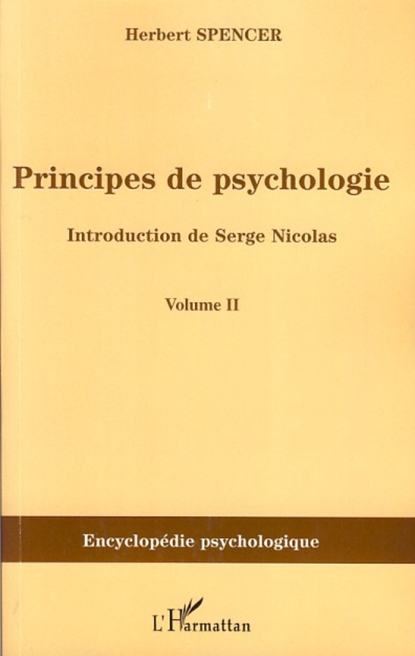 Principes de psychologie (volume 2)