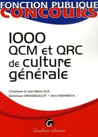 1000 QCM ET QRC DE CULTURE GENERALE