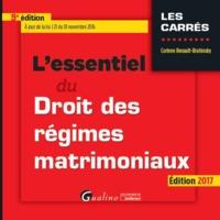 L'ESSENTIEL DU DROIT DES REGIMES MATRIMONIAUX - 9EME EDITION - A JOUR DE LA LOI J 21 DU 18 NOVEMBRE