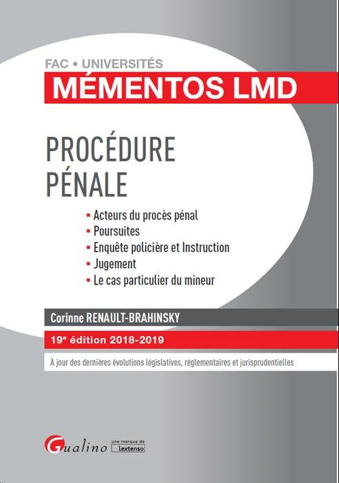 PROCEDURE PENALE - 19EME EDITION