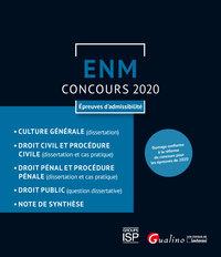 ENM - EPREUVES D'ADMISSIBILITE - OUVRAGE CONFORME AU CONCOURS 2020