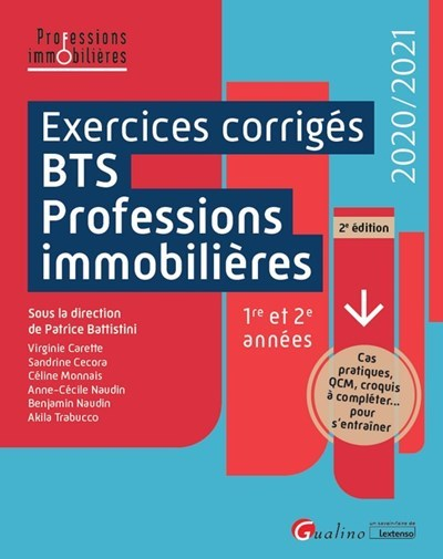 EXERCICES CORRIGES BTS PROFESSIONS IMMOBILIERES