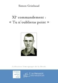 XIE COMMANDEMENT :  TU N'OUBLIERAS POINT