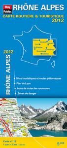 RHONE ALPES, CARTE REGIONALE ROUTIERE TOURISTIQUE N 112. PLAN DE VILLE DE LYON 1/200000