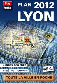 LYON PLAN DE POCHE 2012 - AVEC LOCALISATION DES STATIONS VELO'V - ECHELLE 1/13 300