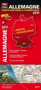 ALLEMAGNE, CARTE ROUTIERE & TOURISTIQUE - 2011