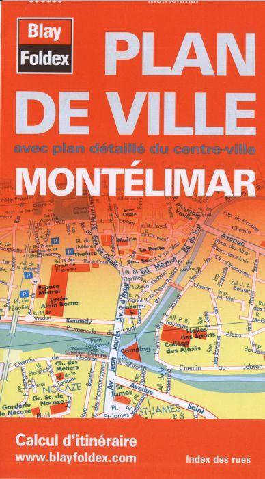 PLAN DE VILLE MONTELIMAR ECHELLE 1/12 100