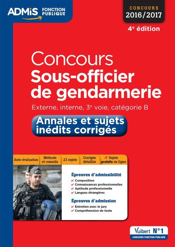 CONCOURS SOUS-OFFICIER DE GENDARMERIE - ANNALES CORRIGEES