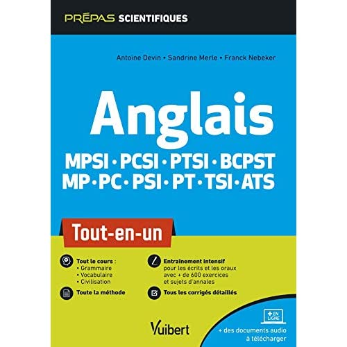 ANGLAIS EN CLASSES PREPARATOIRES SCIENTIFIQUES - MPSI PCSI PTSI BCPST MP PC