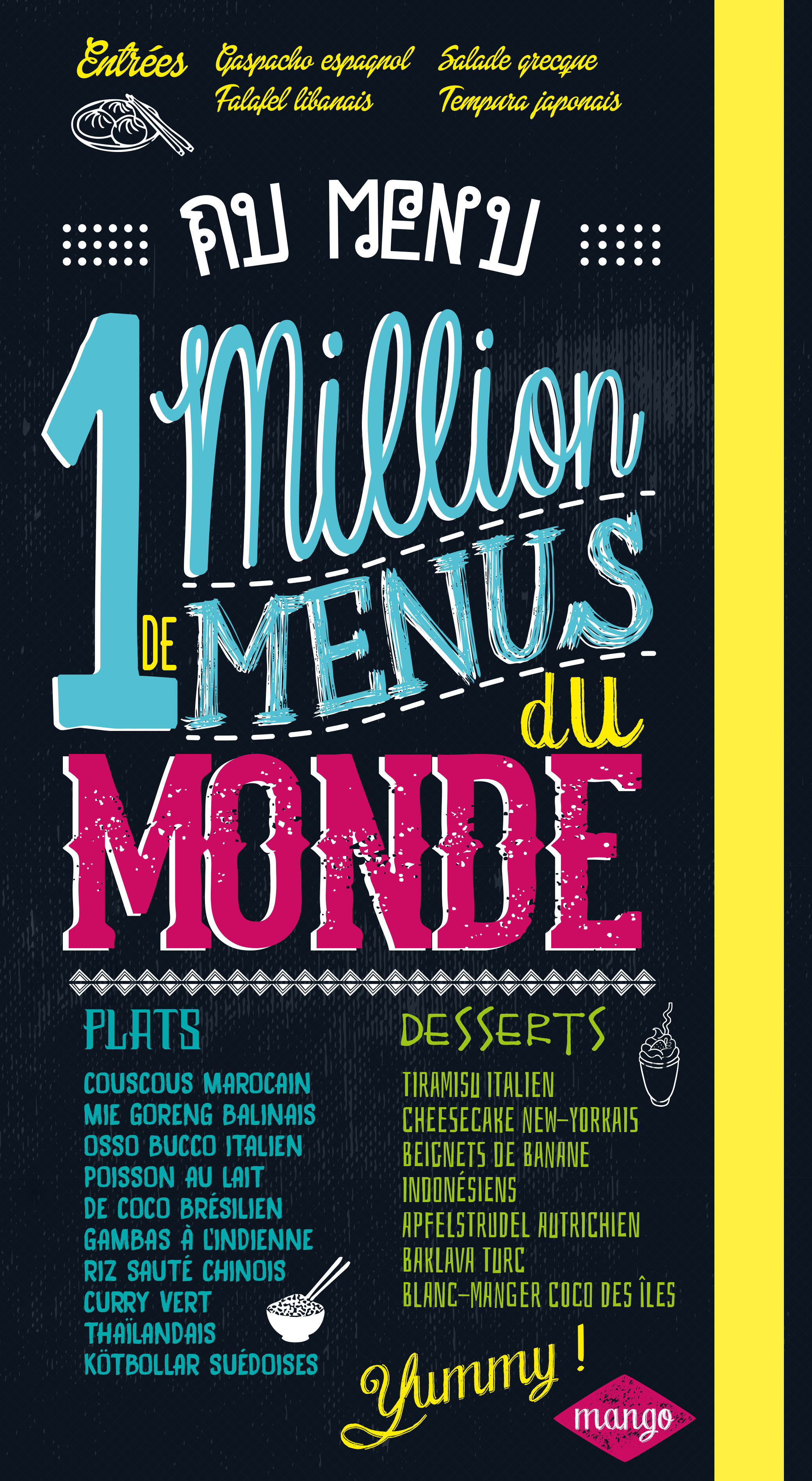 1 MILLION DE MENUS DU MONDE AU CHOIX