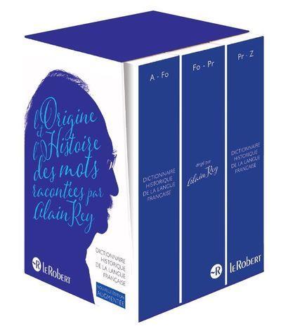 Dictionnaire historique de la langue francaise - coffret 3 volumes - nouvelle edition augmentee