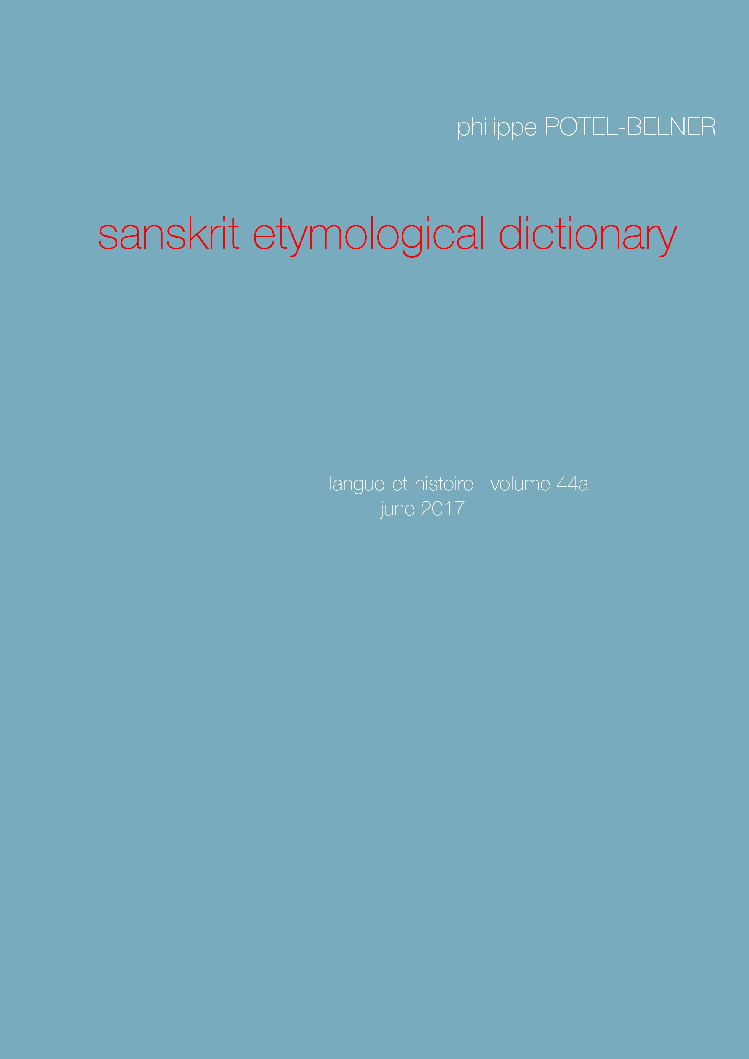 SANSKRIT ETYMOLOGICAL DICTIONARY