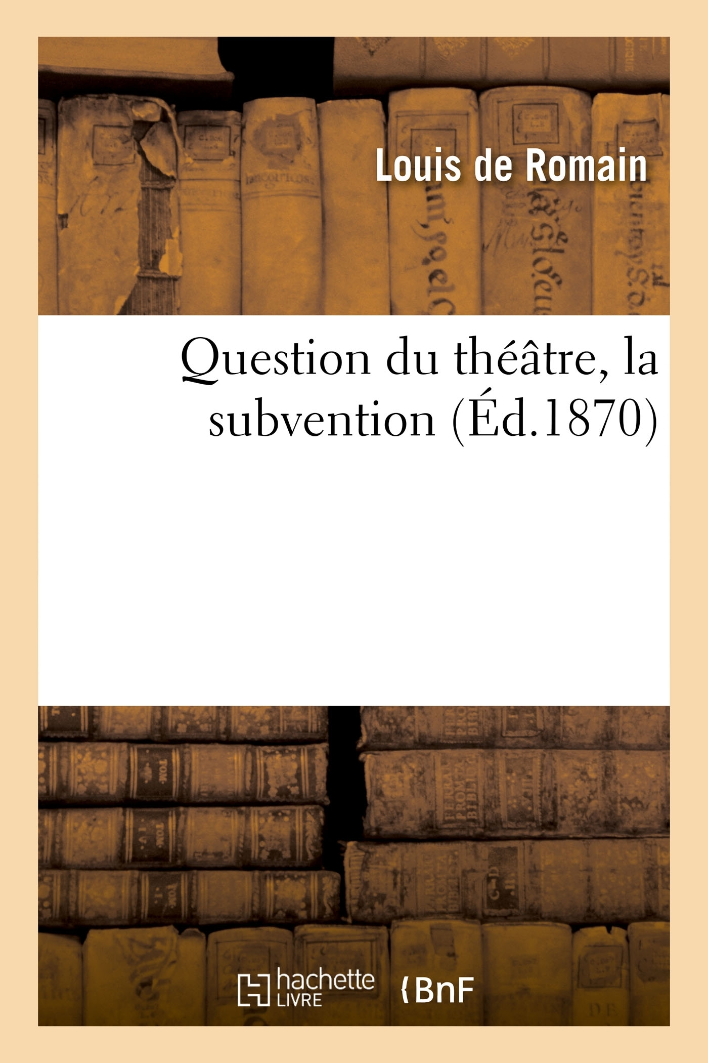 QUESTION DU THEATRE, LA SUBVENTION