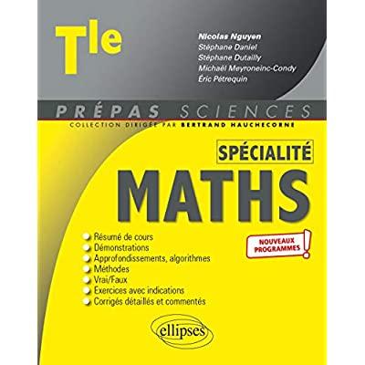 Specialite mathematiques - terminale - nouveaux programmes