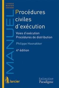 PROCEDURES CIVILES D'EXECUTION VOIES D'EXECUTION - PROCEDURES DE DISTRIBUTION
