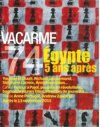 VACARME N 74 EGYPTE 5 ANS APRES HIVER 2016