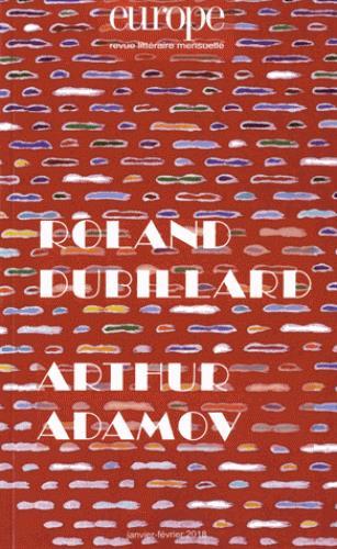 ROLAND DUBILLARD-ARTHUR ADAMOV N  1065-1066 - N  1065-1066 JANVIER FEVRIER 2018