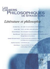 CAHIERS DE STRASBOURG, N. 19 LITTERATURE ET PHILOSOPHIE