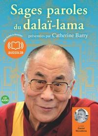 SAGES PAROLES DU DALAI-LAMA - LIVRE AUDIO 1CD AUDIO - UNE SELECTION DE PAROLES