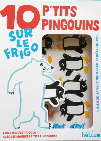 (PVC) - 15,90E - 10 P'TITS PINGOUINS SUR LE FRIGO