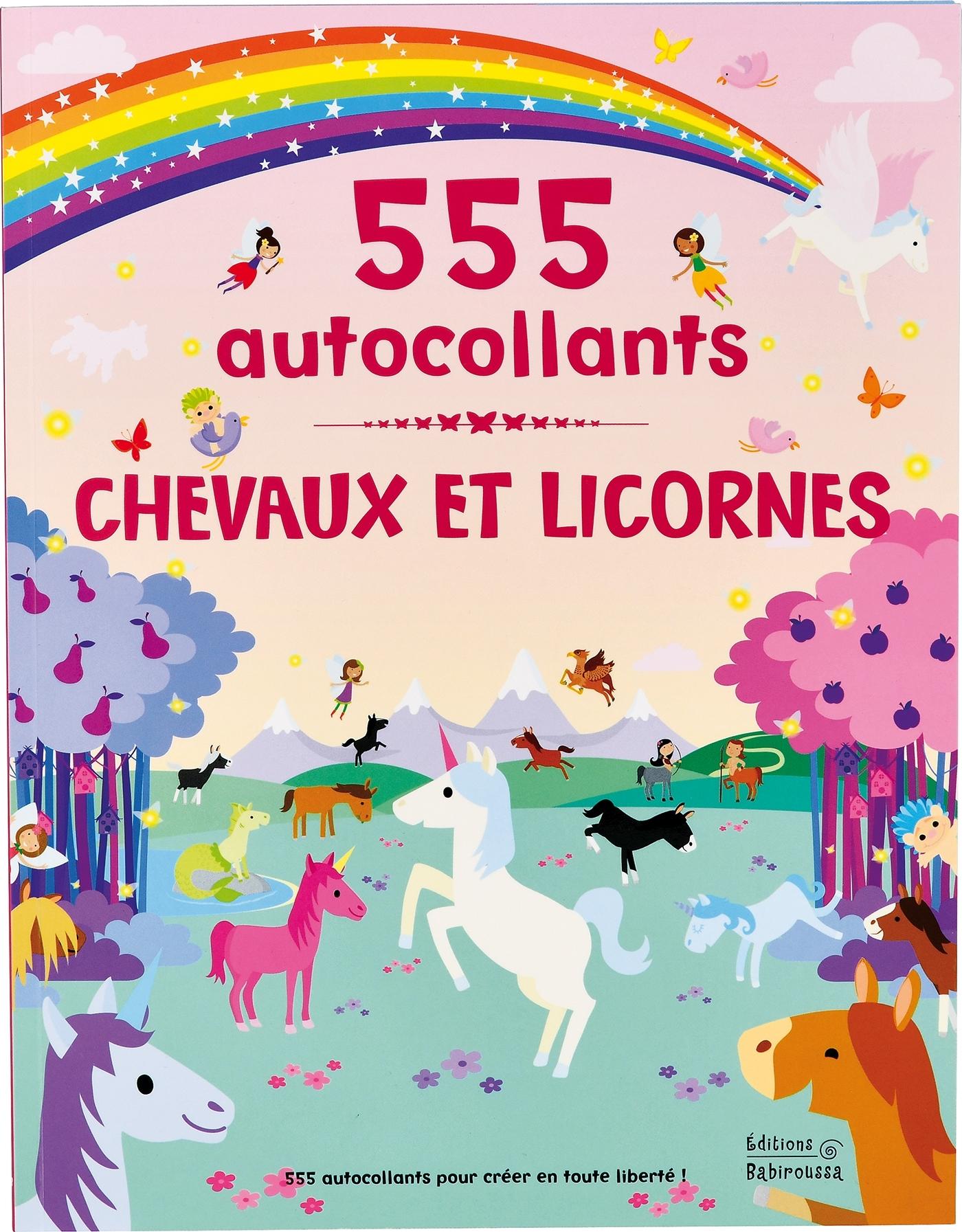 CHEVAUX ET LICORNES - 555 AUTOCOLLANTS