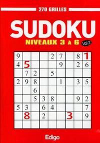SUDOKU VOL.2 - NIVEAUX 3 A 6 - 270 GRILLES