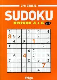 SUDOKU 270 GRILLES - VOLUME 4 - NIVEAUX 3 A 6.