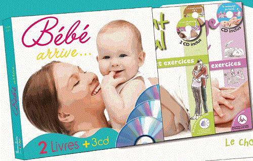 BEBE ARRIVE COFFRET 2 LIVRES + 3 CD
