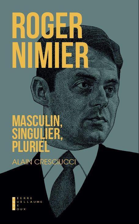 ROGER NIMIER MASCULIN SINGULIER PLURIEL