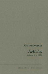 ARTICLES. VOLUME 2. 1930.