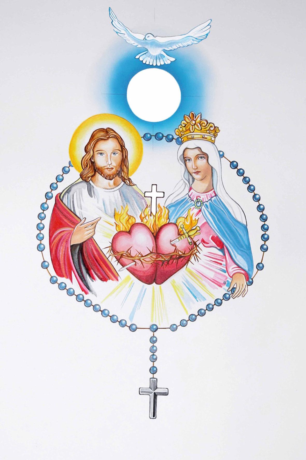 IMAGE COEURS UNIS DE JESUS ET MARIE LOT DE 20 - F67A